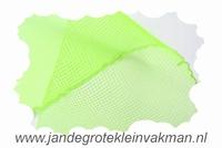 Crinolinestof, groen, circa 35mm breed, per meter