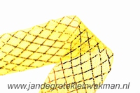 Crinolinestof, goud, circa 35mm breed, per meter