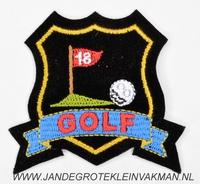 Fantasie decoratie applicatie 65x65mm, Golf