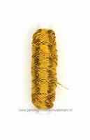 Rimpelelastiek, klosje van ca. 30mtr, goud