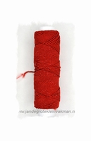 Rimpelelastiek, klosje van ca. 30mtr, rood