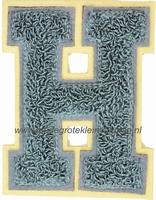 Baseball applicatie, letter H, grijs