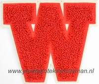 Baseball applicatie, letter W, rood