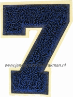 Baseball applicatie, cijfer 7, blauw