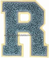 Baseball applicatie, letter R, grijs