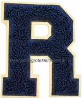 Baseball applicatie, letter R, blauw