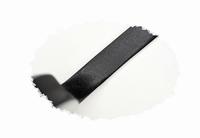 Biasband, satijn, 15mm breed, zwart, per meter