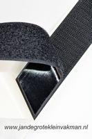 Zelfklevend klittenband YKK, 30mm breed, zwart, per meter
