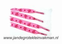 Veters, 112cm lang, 11mm breed, per 2 stuks, pink fantasy