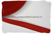 keperband, 15mm, rood, per meter