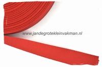 keperband, 20mm, rood, per meter