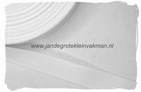 keperband, 20mm, wit, per meter