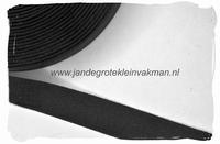 keperband, 20mm, zwart, per meter