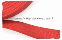 keperband, 30mm, rood, per meter
