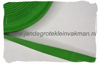 keperband, 15mm, groen, per meter