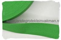 keperband, 30mm, groen, per meter