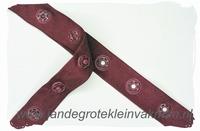 Drukkertjesband, 17mm breed, bordeaux, per meter