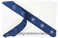 Drukkertjesband, 17mm breed, donkerblauw, per meter