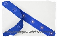 Drukkertjesband, 17mm breed, kobalt, per meter