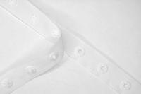 Drukkertjesband, 17mm breed, wit, per meter