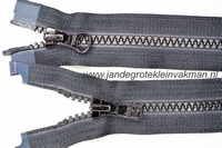 Dubbel deelb, bloktand, nylon, 40cm, kleur 580, zwart