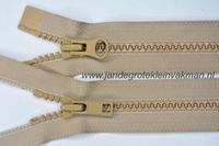 Dubbel deelb, bloktand, nylon, 50cm, kleur 573, beige