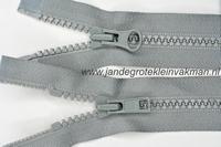 Dubbel deelb, bloktand, nylon, 60cm, kleur 577, grijs