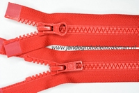 Dubbel deelb, bloktand, nylon, 65cm, kleur 519, rood