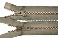 Dubbel deelb, bloktand, nylon, 65cm, kleur 916, bruin