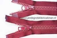 Dubbel deelb, bloktand, nylon, 75cm, kleur 021, bordeaux