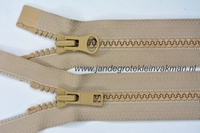 Dubbel deelb, bloktand, nylon, 75cm, kleur 573, beige