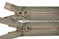 Dubbel deelb, bloktand, nylon, 75cm, kleur 916, bruin