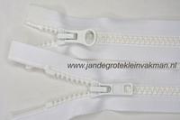 Dubbel deelb, bloktand, nylon, 75cm, kleur 501, wit