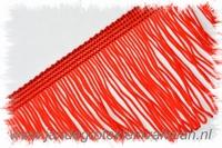 Franjeband (lusjes), 75mm hoog, per meter, rood