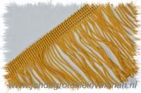 Franjeband (lusjes), 75mm hoog, per meter, goud