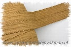 Tresband, 75% acril / 25% polyester, per meter, donkerbeige