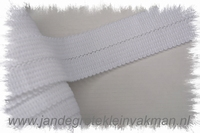 Tresband, 75% acril / 25% polyester, per meter, wit