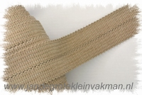 Tresband, 75% acril / 25% polyester, per meter, beige