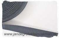 keperband, 20mm, donkergrijs, per meter