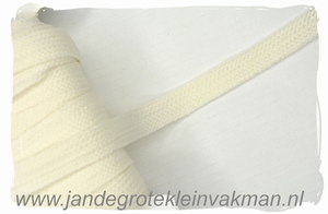 Veterband, synthetisch, 12mm breed, per meter, ecru