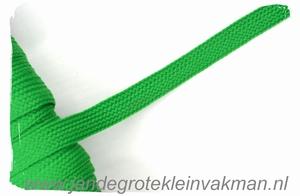 Veterband, synthetisch, 12mm breed,per meter, groen