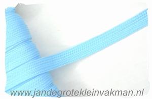 Veterband, synthetisch, 12mm breed, per meter, lichtblauw