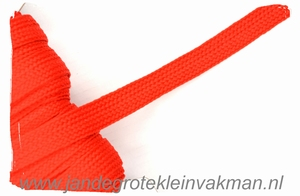 Veterband, synthetisch, 12mm breed, per meter, rood