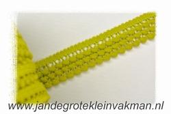 Sier- of afwerkband, 25mm breed, lime, prijs per meter