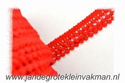 Sier- of afwerkband, 25mm breed, rood, prijs per meter