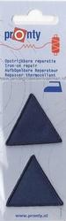 Pronty reparatie driehoekjes, 42x42x42mm, d-blauw, 2 stukis