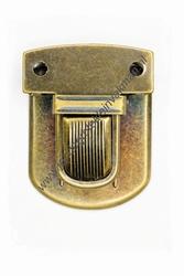 Koffersluiting, metaal, bronskleurig, 52x40mm