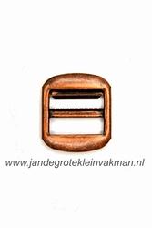 Gilet gesp, metaal, 30x26mm, brons