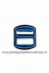 Gilet gesp, metaal, 30x26mm, blauw