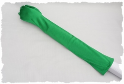 Satijnen gala handschoenen, stretch, ca 55cm, groen